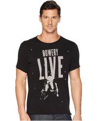 John Varvatos - Bowery Live Graphic Tee Kg3889u2b (black) Men's T Shirt - Lyst