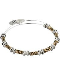 ALEX AND ANI - Quill Bangle (rafaelian Gold/rafaelian Silver) Bracelet - Lyst