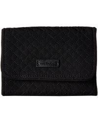Vera Bradley Rfid Riley Compact Wallet - Black