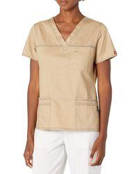 Dickies Genflex Junior-fit V-neck Scrub Shirt - Natural
