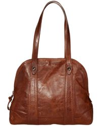 Frye Melissa Domed Zip Satchel - Brown