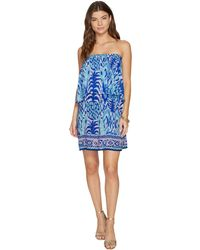 Lilly Pulitzer - Quincy Dress (serene Blue Tropic Call Me Engineered) Women's Dress - Lyst