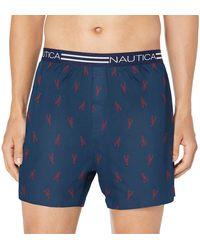 Nautica Tagless Soft Cotton Knit Boxer - Blue