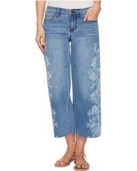 Liverpool Jeans Company - Allison Crop Raw Edge In Vintage Super Comfort Stretch Printed Denim In Melbourne Light - Lyst