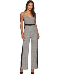 Donna Morgan - Plaid Sleeveless Jumpsuit (brown Multi) Women's Jumpsuit & Rompers One Piece - Lyst