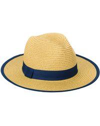 San Diego Hat Company Fedora W/ Pop Color Grosgrain - Blue