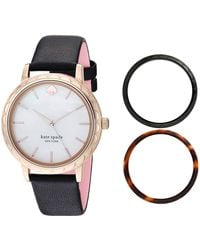 Kate Spade Morningside Mother - Of - Pearl Dial Watch Gift Set - Multicolor