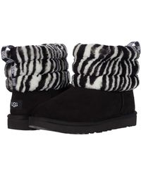 UGG W Fluff Mini Quilted Black