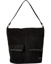 Roxy - Break Things Medium Tote Bag (true Black) Tote Handbags - Lyst