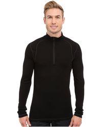 Smartwool - Nts Mid 250 Zip T Top (black) Men's Long Sleeve Pullover - Lyst