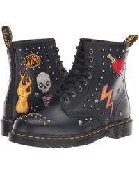 Dr. Martens - 1460 Rock Roll (white Smooth) Boots - Lyst