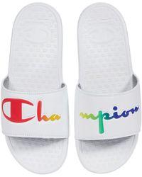 Champion Super Slide Split Script Classic Shoes - White
