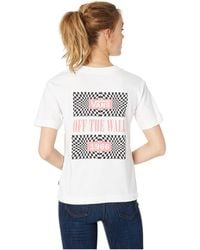 a973d31bad Vans - Another Dimension Tee (white) Women s Clothing - Lyst