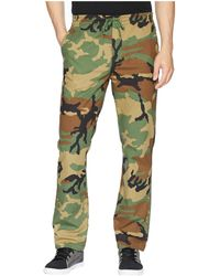 HUF Mens Woodland Camo Fleece Pants