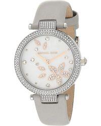 Michael Kors Parker Pavé Two-tone Watch - Metallic