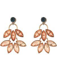 Fossil - Double Leaf Stud Earrings - Lyst