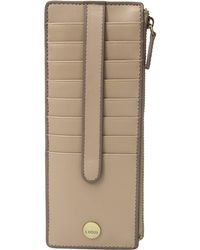 Lodis - Rodeo Rfid Credit Card Case With Zipper Pocket (latte) Wallet - Lyst