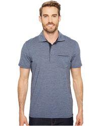 Prana - Pacer Short Sleeve Polo (equinox Blue) Men's Short Sleeve Pullover - Lyst