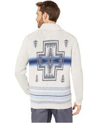 Tommy Bahama Pendleton(r) Aloha Harding Shawl Cardigan (cloud Heather) Men's Sweater - Multicolor