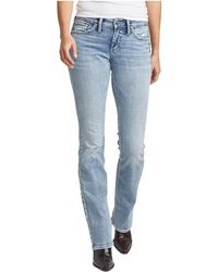 Silver Jeans Co. Suki Mid-rise Curvy Fit Slim Bootcut Jeans L93606ssx152 - Blue