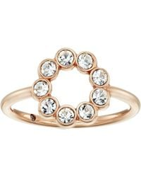 Fossil | Narrow Cocktail Ring With Glitz | Lyst