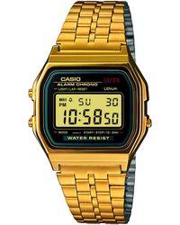 G-Shock Men's Digital Vintage Gold-tone Stainless Steel Bracelet Watch 34mm A159wgea-1mv - Metallic