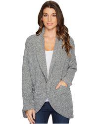 Mod-o-doc | Corded Sweater Knit Shawl Collar Patch Pocket Cardigan | Lyst