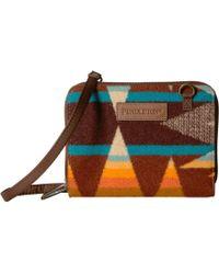 Pendleton Wallet On A Strap - Brown
