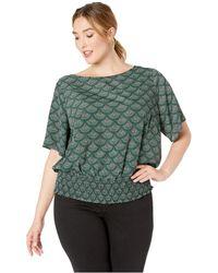 38a280a158be6e MICHAEL Michael Kors - Plus Size Multi Chandelier Kimono (dark Emerald)  Women's Blouse -