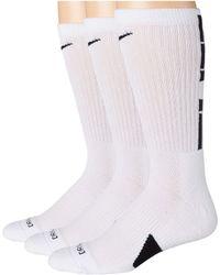 Nike Elite Crew Basketball Socks 3-pair Pack - White