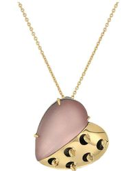 Alexis Bittar - Petite Grater Heart Pendant Necklace (rose Grey) Necklace - Lyst