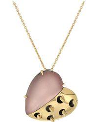 Alexis Bittar - Petite Grater Heart Pendant Necklace - Lyst