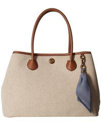 Lauren by Ralph Lauren - Millbrook Market Tote Large (natural/lauren Tan) Tote Handbags - Lyst