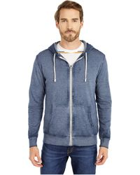 Threads For Thought Vintage Wash Full Zip Hoodie - Blue