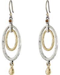 Lucky Brand - Mary Jane Oval Orbital Earrings (two Tone) Earring - Lyst