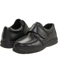 Hush Puppies - Gil (black Leather) Men's Hook And Loop Shoes - Lyst