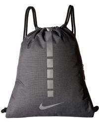 Lyst - Nike Hoops Elite Gym Sack (black black white) Bags in Black ... 337da70a9d8c5