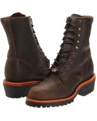 Chippewa - Apache Logger (chocolate) Men's Boots - Lyst
