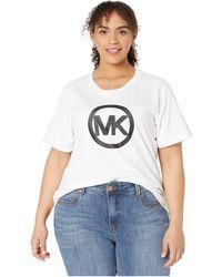 MICHAEL Michael Kors Plus Size Circle Logo Tee - White
