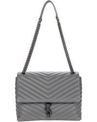 Rebecca Minkoff Edie Flap Shoulder Bag - Metallic