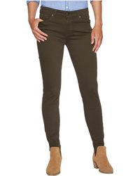 Agave - Harlowe Twill Skinny Fit In Forest Night - Lyst