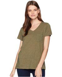 Pendleton - V-neck Pocket Cotton Tee (kalamata) Women's T Shirt - Lyst