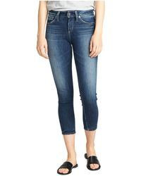 Silver Jeans Co. - Avery High-rise Curvy Fit Skinny Crop Jeans L44910asx375 - Lyst