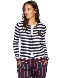 Lauren by Ralph Lauren - Bullion-patch Cotton Cardigan (navy mascarpone  Cream Multi 5dc8627c1