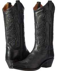 7ca4f58ff36 Lyst - Old West Boots 60104 in Black