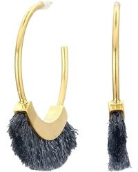 Madewell Fringe Hoop Earrings - Metallic