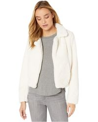 Blank NYC Faux Fur Crop Jacket In Baby Spice - Natural