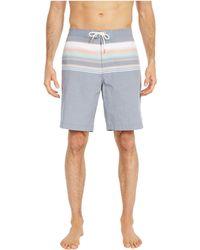 Tommy Bahama Baja Sanders Beach Stripe Swim Trunks - Blue