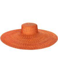 San Diego Hat Company Wheat Straw Hat W/ Oversized Brim - Orange