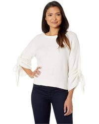 Kenneth Cole - Long Sleeve Cropped Boat Neck W/ Gathered Sleeves Top (flannel Grey Heather) Women's Clothing - Lyst